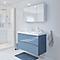 Ensemble de salle de bains à suspendre Imandra bleu 100 cm meuble sous vasque + plan Mila
