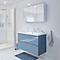 Ensemble de salle de bains à suspendre Imandra bleu 100 cm meuble sous vasque + plan Nira