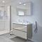 Ensemble de salle de bains à suspendre Imandra taupe 100 cm meuble sous vasque + plan Nira