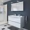 Ensemble de salle de bains à suspendre Imandra blanc 120 cm meuble sous vasque + plan Lana