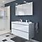 Ensemble de salle de bains à suspendre Imandra blanc 120 cm meuble sous vasque + plan Mila