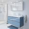 Ensemble de salle de bains à suspendre Imandra bleu 120 cm meuble sous vasque + plan Lana