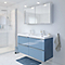 Meuble sous vasque à suspendre GoodHome Imandra bleu 120 cm + plan vasque Lana