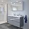 Ensemble de salle de bains à suspendre Imandra gris 120 cm meuble sous vasque + plan Lana