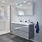 Ensemble de salle de bains à suspendre Imandra gris 120 cm meuble sous vasque + plan Mila