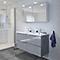 Ensemble de salle de bains à suspendre Imandra gris 120 cm meuble sous vasque + plan Nira