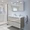 Ensemble de salle de bains à suspendre Imandra taupe 120 cm meuble sous vasque + plan Nira
