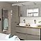 Meuble sous vasque à suspendre GoodHome Imandra taupe 120 cm + plan de toilette Hartland