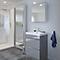 Ensemble de salle de bains à poser Imandra gris 60 cm meuble sous vasque + plan Lana