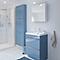 Ensemble de salle de bains à poser Imandra bleu 60 cm meuble sous vasque + plan Mila