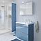 Ensemble de salle de bains à poser Imandra bleu 60 cm meuble sous vasque + plan Lana