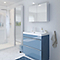 Ensemble de salle de bains à poser Imandra bleu 80 cm meuble sous vasque + plan Nira