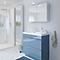 Meuble sous vasque à poser GoodHome Imandra bleu 80 cm + plan vasque Nira