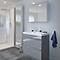 Ensemble de salle de bains à poser Imandra gris 80 cm meuble sous vasque + plan Nira