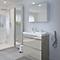 Ensemble de salle de bains à poser Imandra taupe 80 cm meuble sous vasque + plan Nira