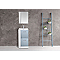 Ensemble de salle de bains bleu Waneta 44 cm meuble sous-vasque + plan vasque