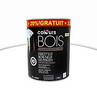 Peinture bois Colours blanc satin 2,5L + 20% gratuit