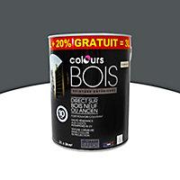 Peinture bois Colours bitume satin 2,5L + 20% gratuit