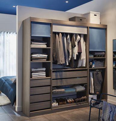 dressing ch ne cendr perkin castorama. Black Bedroom Furniture Sets. Home Design Ideas