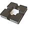 Chapeau carré plastique GoodHome Neva RAL 7021 anthracite 15,5 x h.3 cm