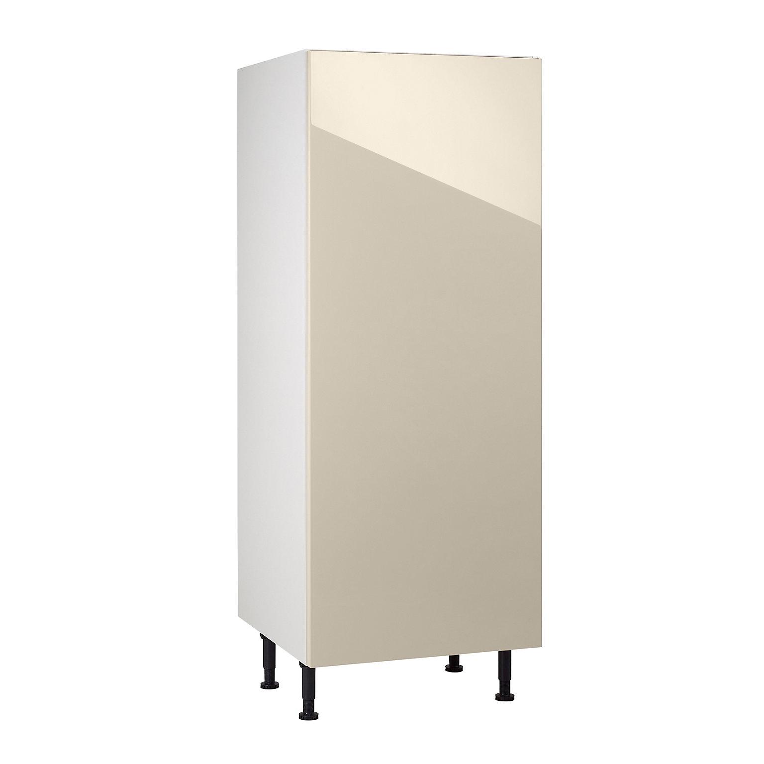 Meuble de cuisine Gossip sable façade porte de réfrigérateur + caisson 15/15  colonne L. 15 cm