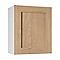 Meuble de cuisine Kadral bois façade 1 porte + caisson haut L. 60 cm