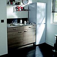 Meuble de cuisine Unik gris d'angle façade 1 porte + kit fileur + caisson bas L. 60 cm