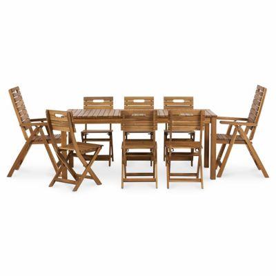 Lot table de jardin Denia + 4 chaises de jardin + 2 fauteuils de jardin
