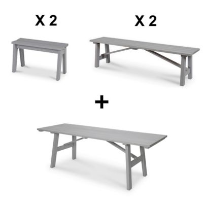 Table Lot Bancs Rural2 Jardin Dossier Blooma De Sans Y6g7yfb Bois QhdCtsrxB