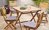 Salon de jardin Denia - Table + 4 chaises