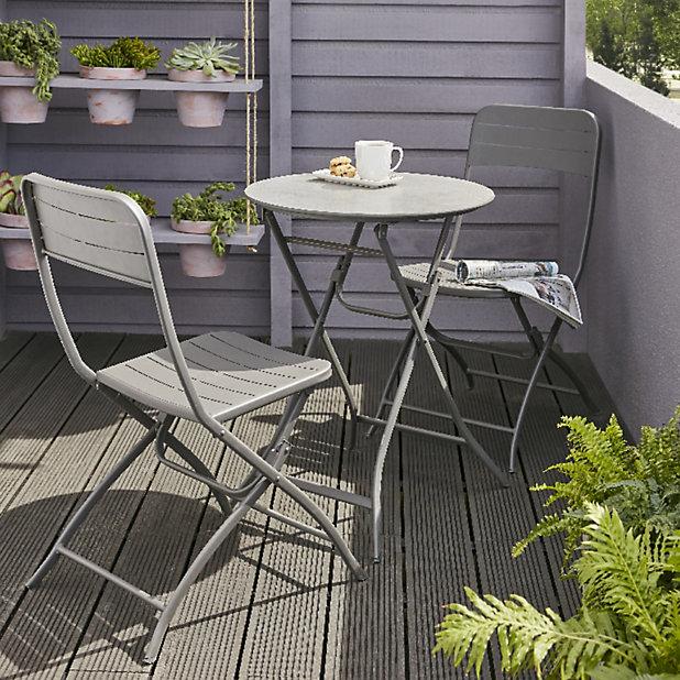 Salon De Jardin Holi Table 2 Chaises Castorama