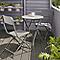 Lot table de jardin métal ronde Blooma Holi + 2 chaises de jardin métal