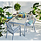 Lot table de jardin Verena + 4 chaises de jardin + 2 fauteuils de jardin