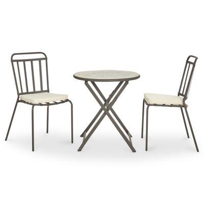 Sofia2 jardin métal chaises chaise Sofia2 table ronde SofiaCastorama marbre galettes de de jardin Lot de et 8mwO0yvNn