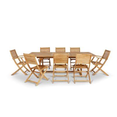 Lot table de jardin Roscana + 2 lots de chaises de jardin + lot de fauteuils de jardin