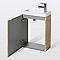 Meuble lave mains à suspendre GoodHome Imandra bois L.44 x H.55 cm + plan vasque Beni