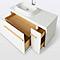 Meuble sous vasque à poser GoodHome Adriska blanc 100 cm + plan vasque Ceara