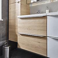 Meuble sous vasque à suspendre GoodHome Imandra bois 60 cm + plan vasque Nira