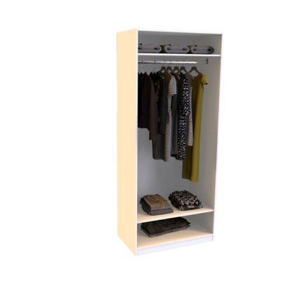 Armoire Darwin 2 tablettes avec portes battantes L 100 cm x P 56 cm x H 235 cm coloris blanc