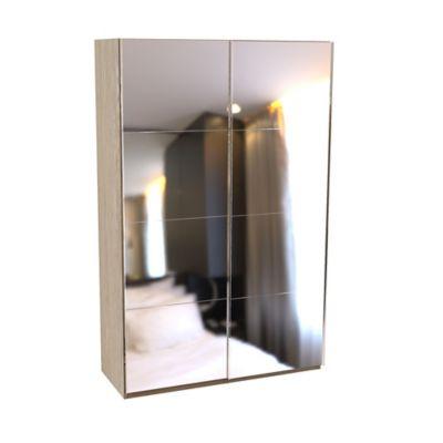 Armoire darwin 1 tiroir avec portes coulissantes l 150 cm x p 56 cm x h 235 cm coloris chêne