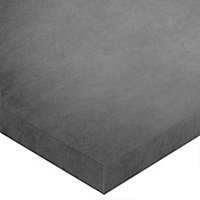 Plan de toilette Cavado gris foncé 90 cm