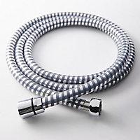 Flexible de douche gris/argent PVC GoodHome 2 m