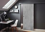 Porte Exmoor gris 83 cm + système coulissant Oléni
