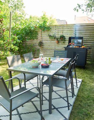 Salon De Jardin Dallas Table 6 Fauteuils Castorama
