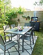 Salon de jardin Dallas - Table + 6 fauteuils