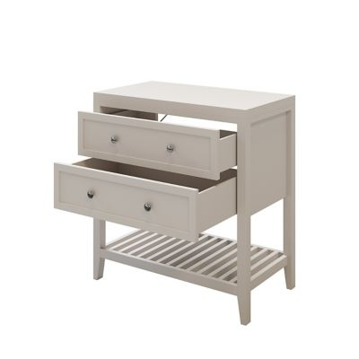 Meuble sous vasque à poser 2 tiroirs GoodHome Perma taupe 80 cm + plan de toilette
