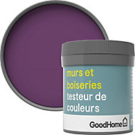 Testeur peinture murs et boiseries GoodHome violet Shizuoka satin 50ml
