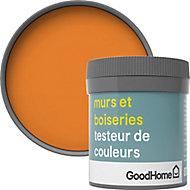 Testeur peinture murs et boiseries GoodHome orange Valencia satin 50ml