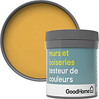 Testeur peinture murs et boiseries GoodHome jaune Gran Via satin 50ml