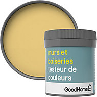 Testeur peinture murs et boiseries GoodHome jaune Andalusia satin 50ml